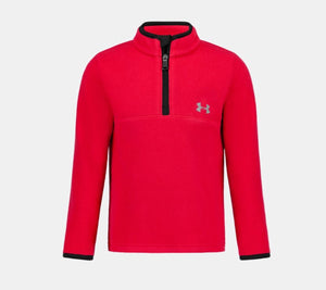 UA Solid Logo 1/4 Zip Red