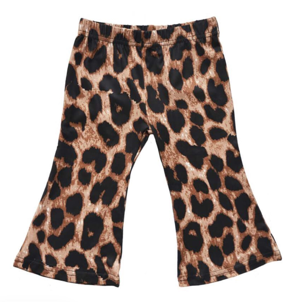 BB Leopard Bell Bottoms