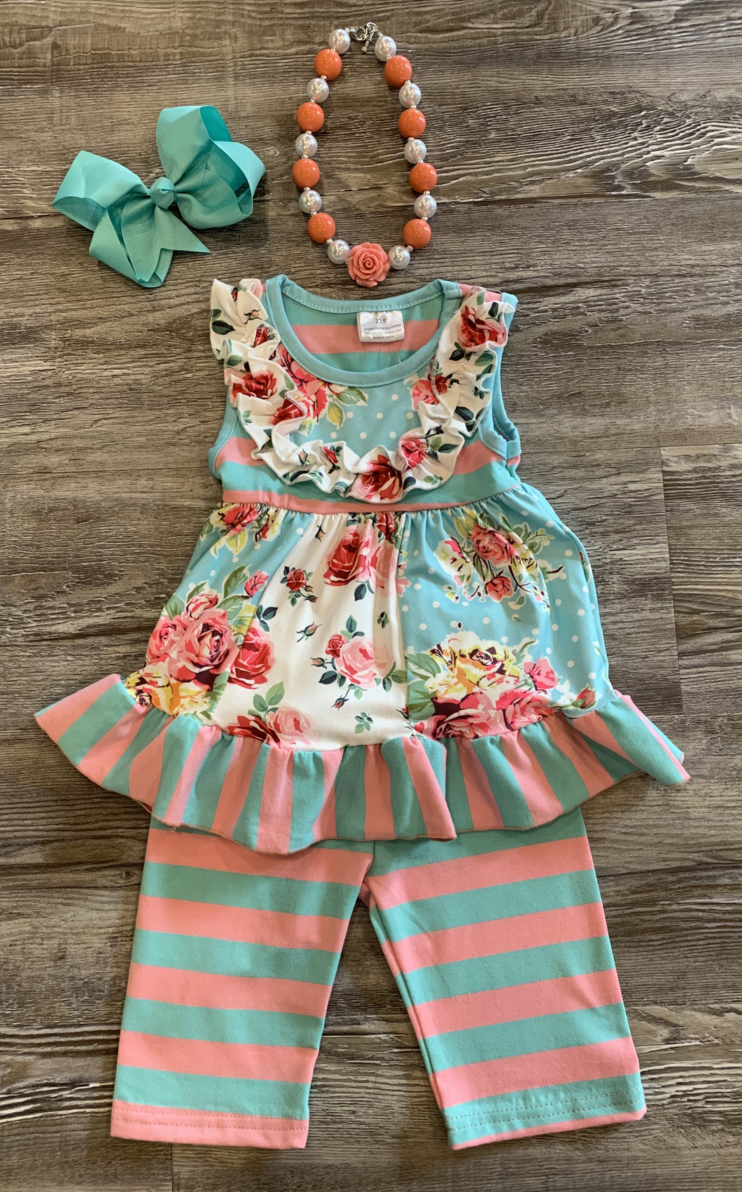 Pink / Turquoise Floral Set
