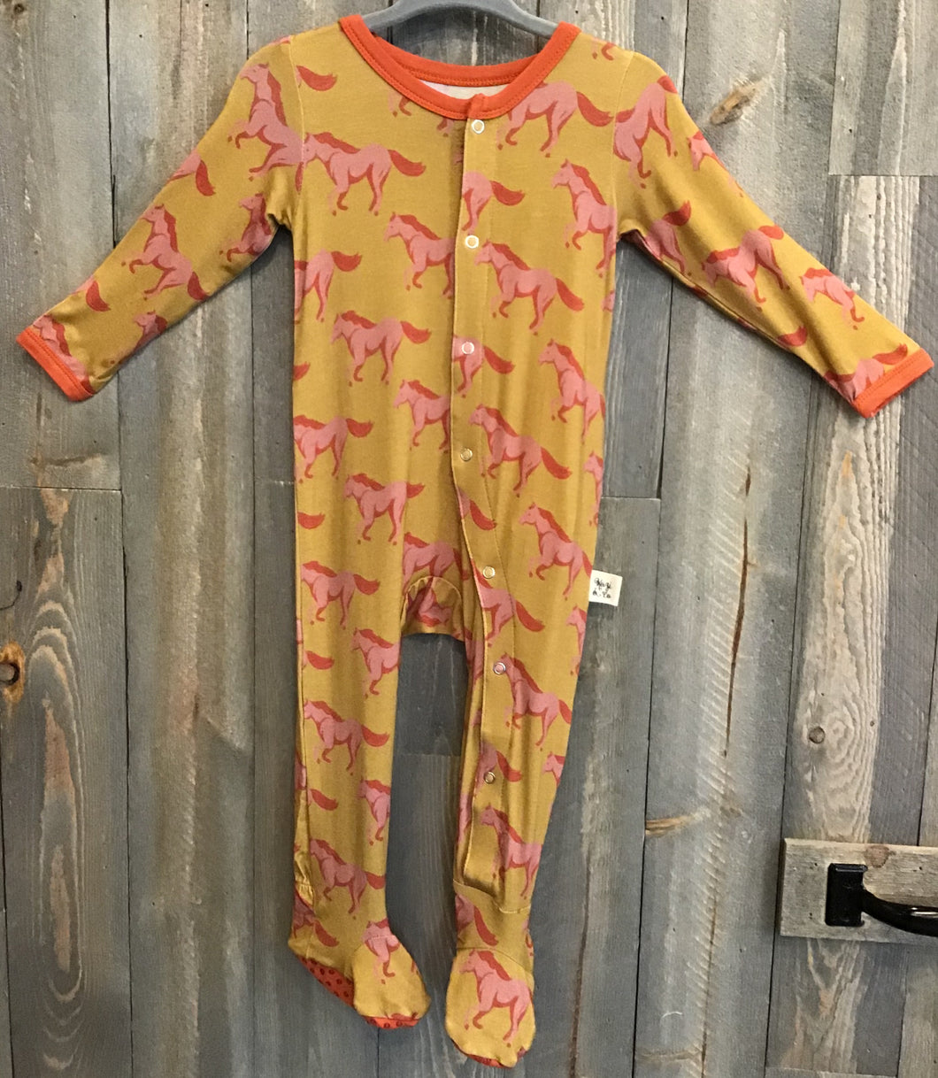 Pink Mustang Footed Pajamas