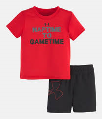 Under Armour Red Nap to Game time set