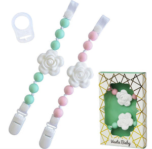 Vesta Baby Pacifier Clip & Teether Holder Set