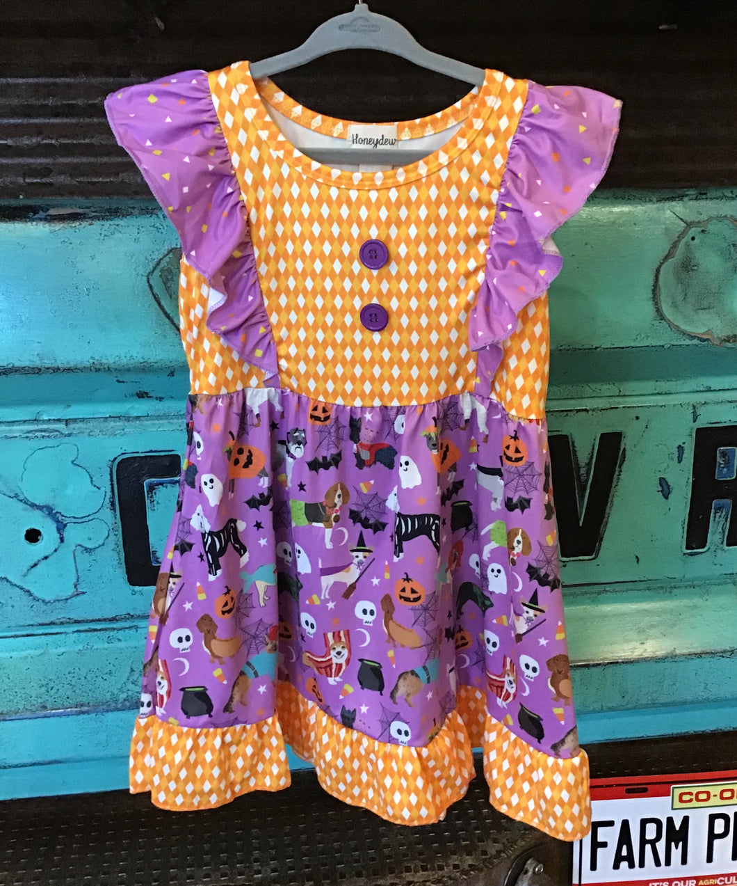 Halloween flutter sleeve dress