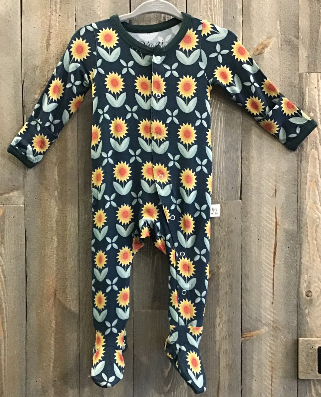 Sunflowers Footed Pajamas