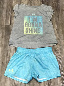 Under Armour Gray/blue 2pc short set