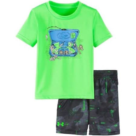 Under Armour Green/Black 2pc set