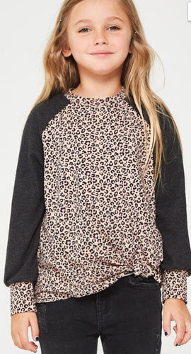 Leopard Print Sweater with Knot
