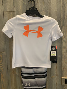 Under Armour orange/white infant swim set