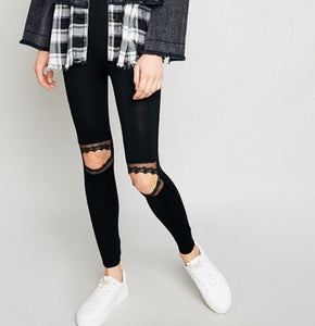 Hayden Cut-Out Lace Leggings