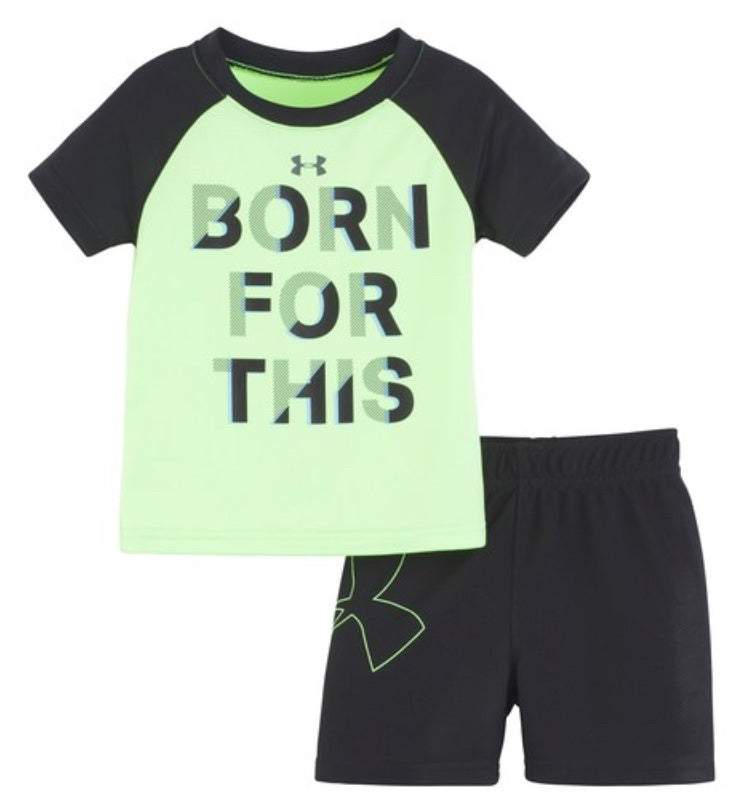 Under Armour Lime Green/Black 2 pc set