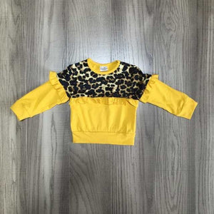 Yellow/Leopard Top
