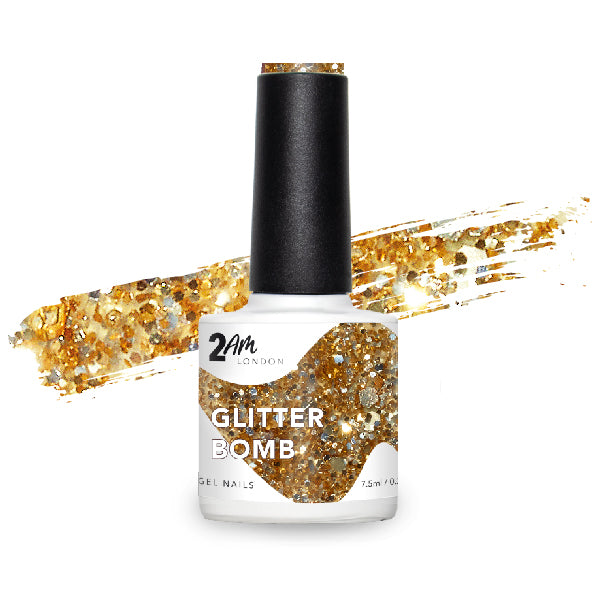 Glitter Bomb Gel Polish 7.5ml - 2AM LONDON