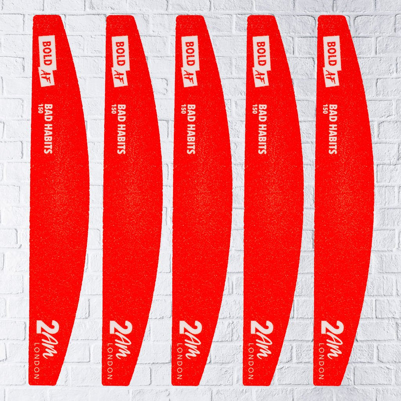Bad Habits 150 Grit Nail File – 5 Pack | Nail Files - 2AM London
