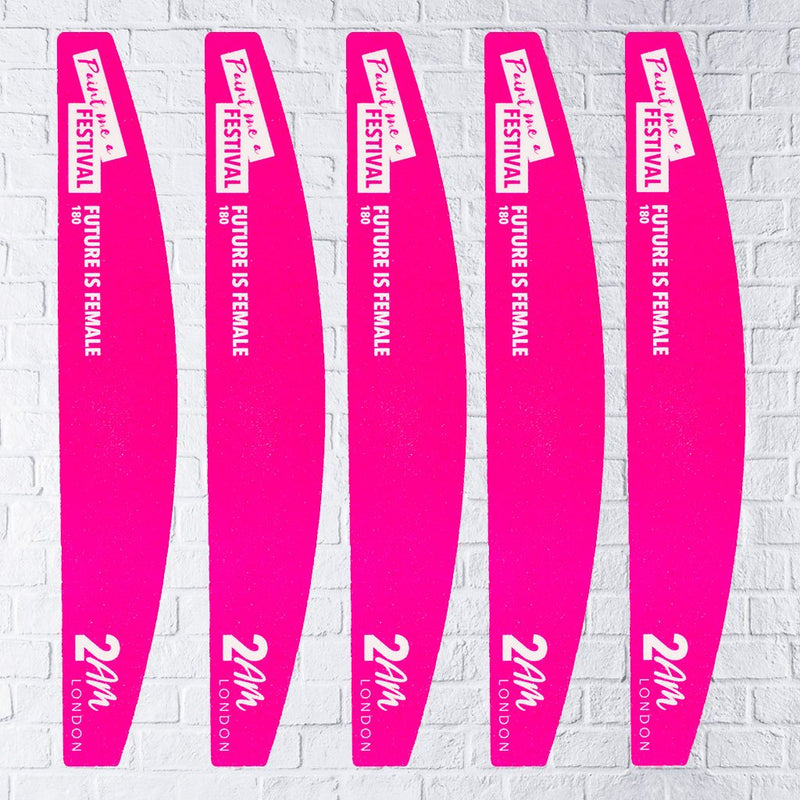 Future Is Female 180 Grit Nail File – 5 Pack | Nail Files - 2AM London