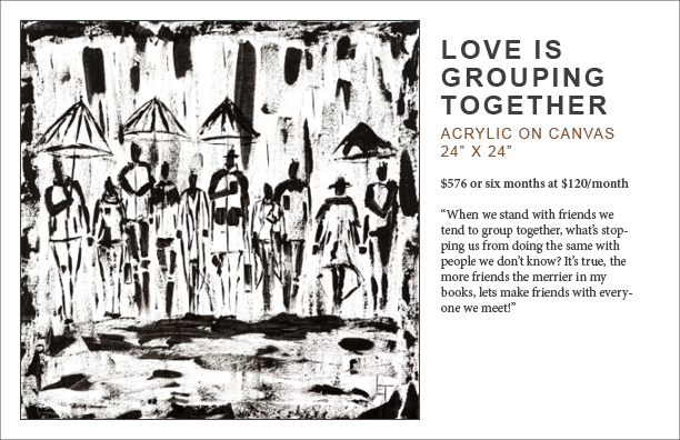 lennard taylor_love is grouping together_art