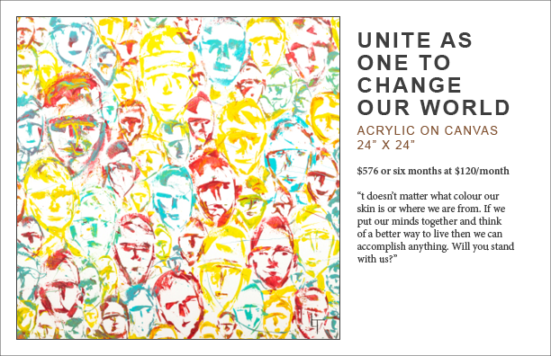 Lennard Taylor_Unite as one to change our world_art