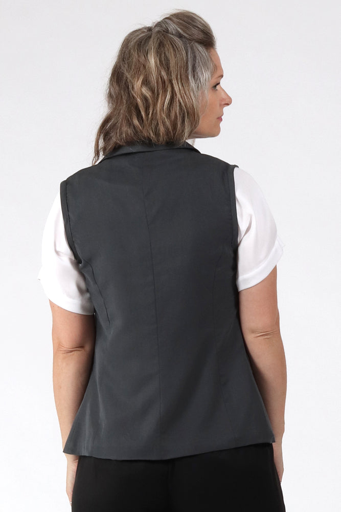 Aria Vest - Grey - back view - Lennard Taylor