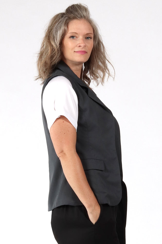 Aria Vest - Grey - side view - Lennard Taylor