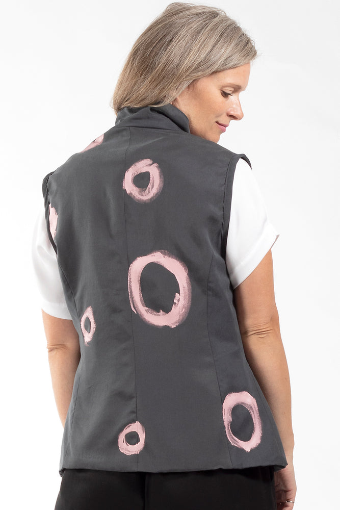 Aria Vest, prosecco collection, back view, Lennard Taylor