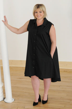 black Amanda dress - front - Lennard Taylor