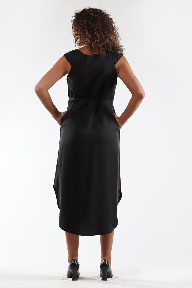 Shift Dress - DENISE - black - back - Lennard Taylor