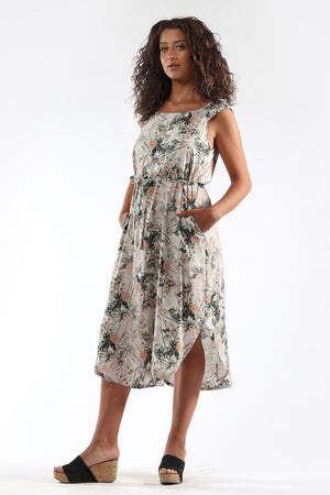 Shift Dress - DENISE - floral - side - Lennard Taylor
