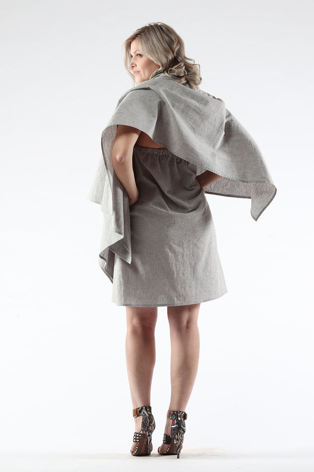 Diane Dress - grey - back View - Lennard Taylor