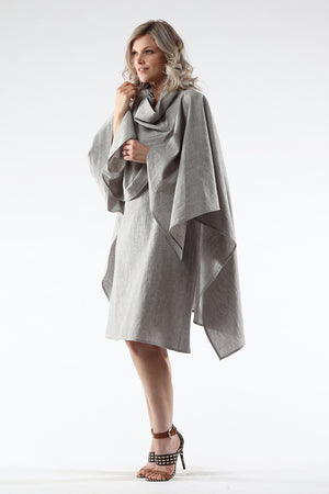 Diane Dress - grey - side View - Lennard Taylor