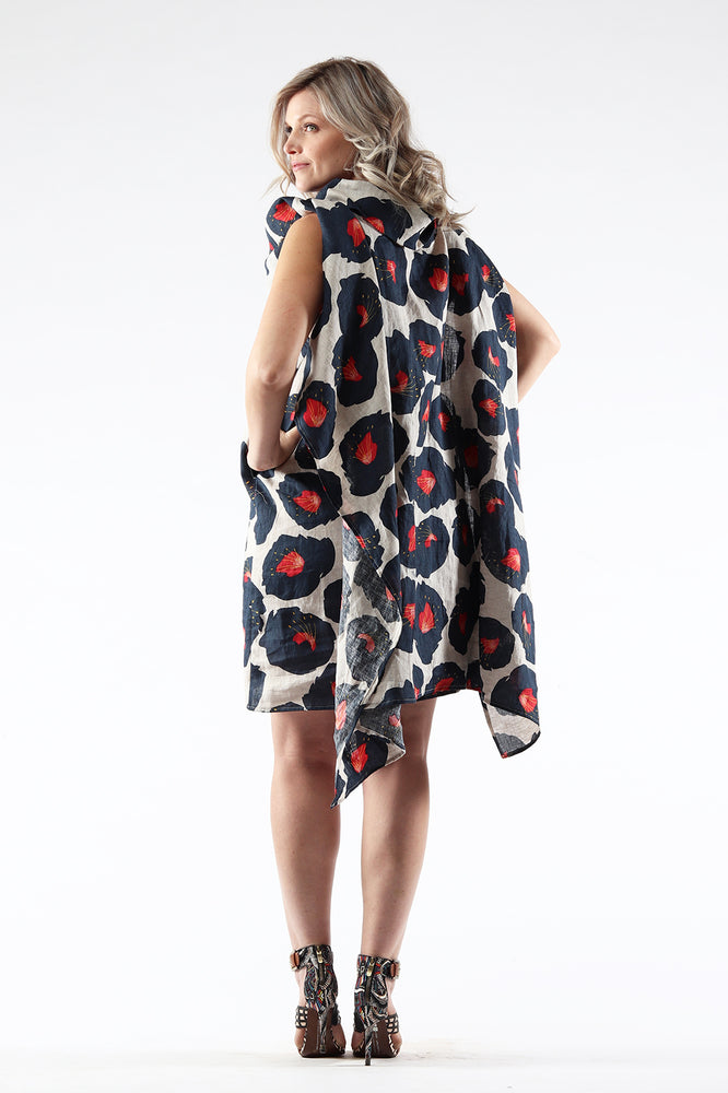 Diane Dress - Poppy - Back View - Lennard Taylor