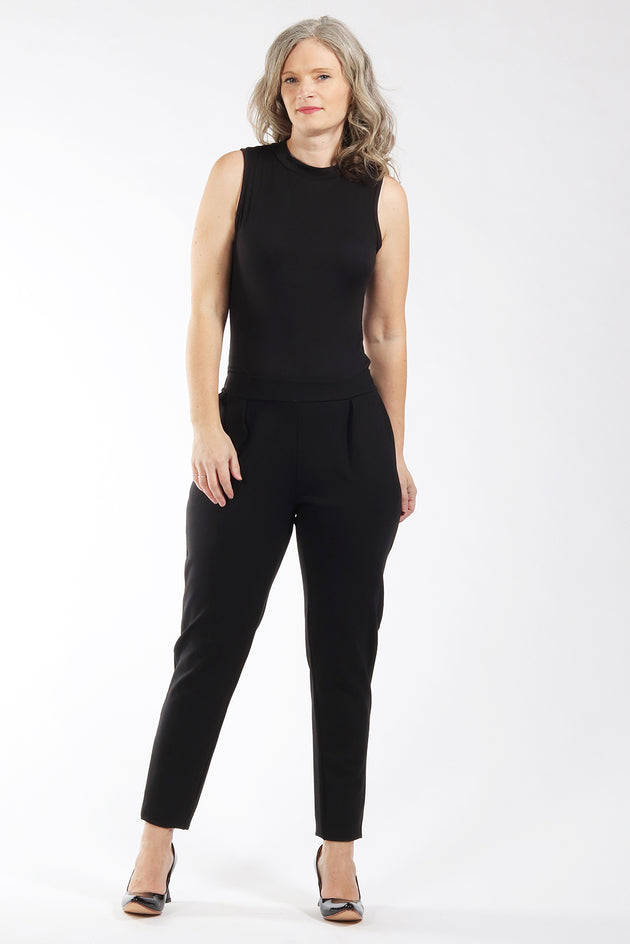 Black Esther pant - front view - Lennard Taylor