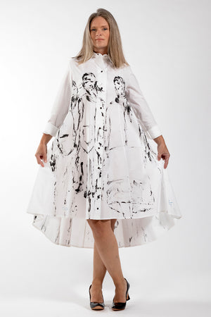 Hand painted Beatrix Dress - front view 2 - Lennard Taylor
