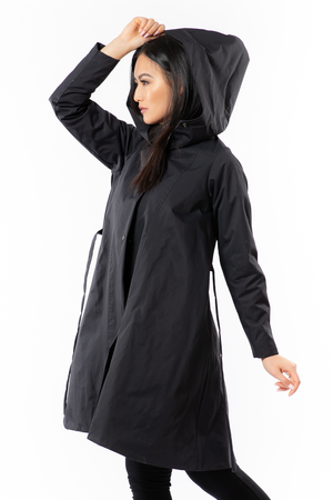 Karol Coat - Wind + Rain - black - side view - Lennard Taylor