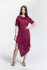 Burgundy Jacq Dress_front view_Lennard Taylor