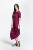 Burgundy Jacq Dress_side view_Lennard Taylor