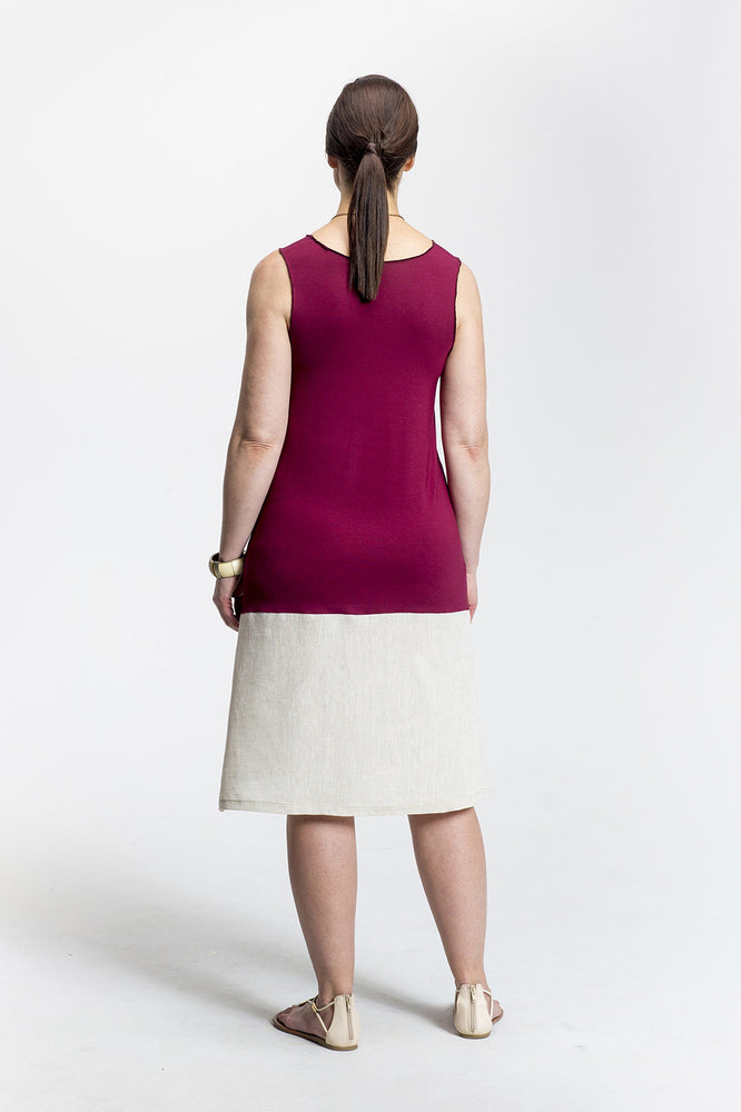 Burgundy Wendy Dress_back view_Lennard Taylor