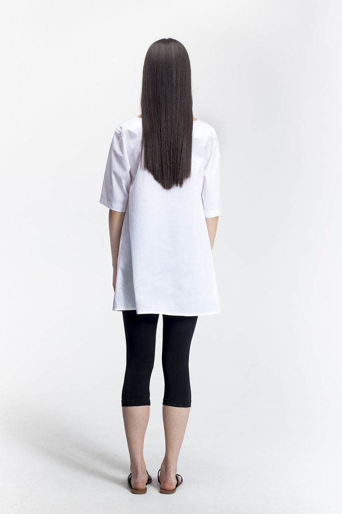 White Joplin Tunic_back view_Lennard Taylor
