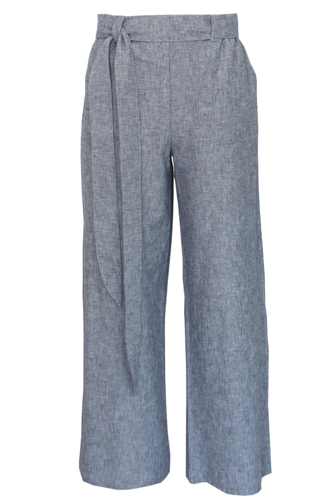 Belted Palazzo Pant - VICTORIA - Linen - Lennard Taylor