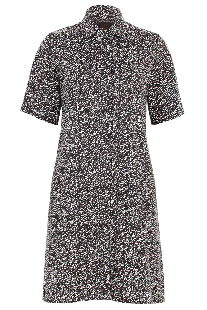 LORELEI dress - splatter dot print - flat lay - Lennard Taylor
