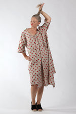 One of a Kind #00272_polka dot linen dress_back_Lennard Taylor