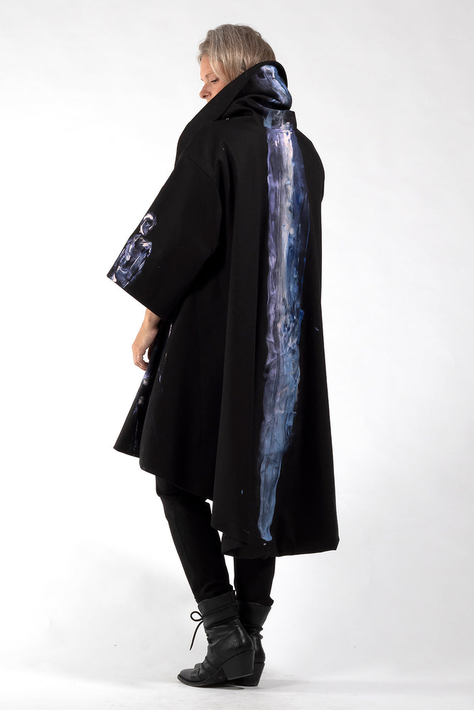 One of a Kind #00278-Hand painted Jojo coat-back view 2-Lennard Taylor