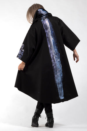 One of a Kind #00278-Hand painted Jojo coat-back view 3-Lennard Taylor