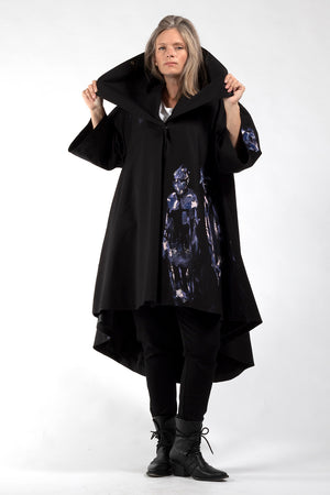 One of a Kind #00278-Hand painted Jojo coat-front view 1-Lennard Taylor