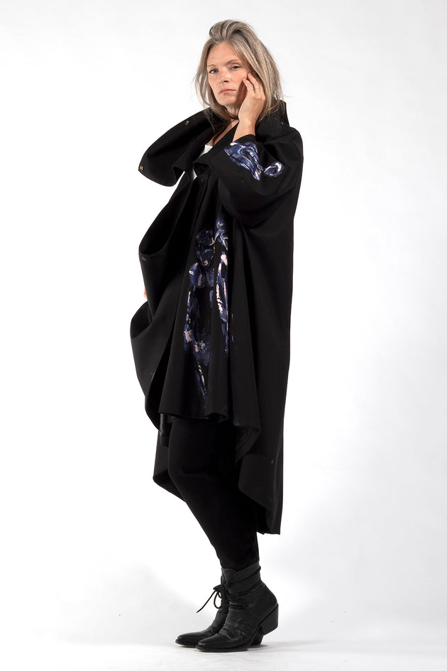 One of a Kind #00278-Hand painted Jojo coat-side view 2-Lennard Taylor
