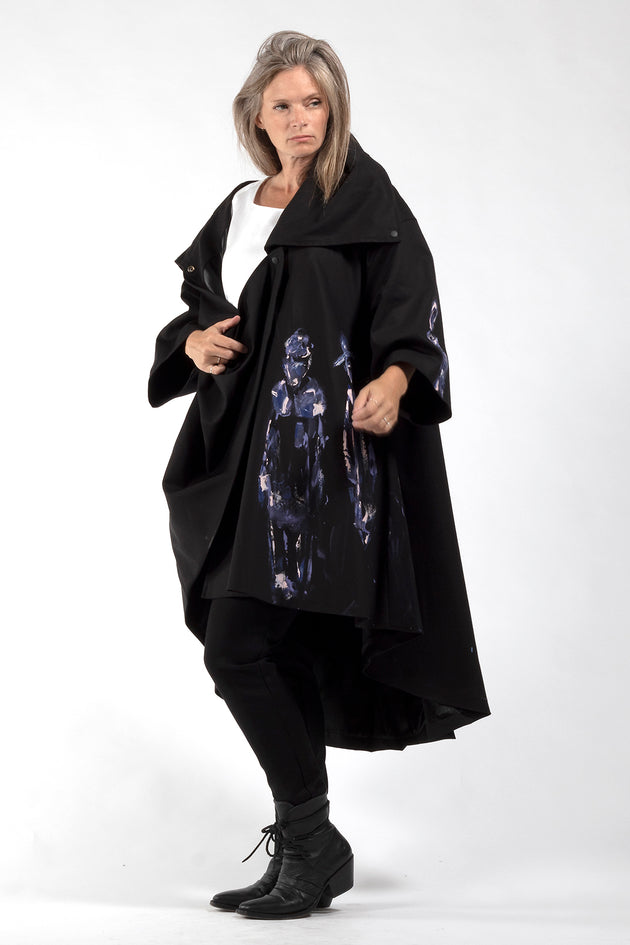 One of a Kind #00278-Hand painted Jojo coat-side view 3-Lennard Taylor