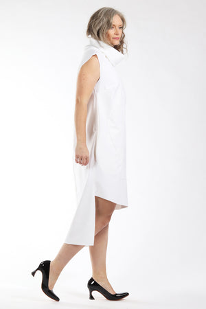 One of a kind #00298 - white bonded fabric dress - side view 1 - Lennard Taylor