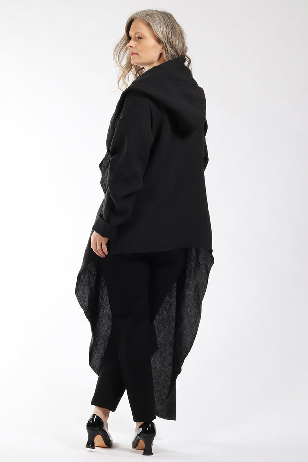 One of a kind #00300 - drape front cardigan - back view 2 - Lennard Taylor