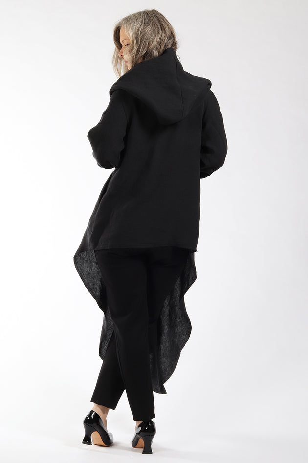 One of a kind #00300 - drape front cardigan - back view - Lennard Taylor