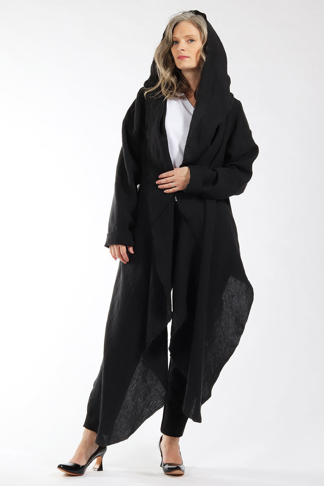 One of a kind #00300 - drape front cardigan - front view - Lennard Taylor