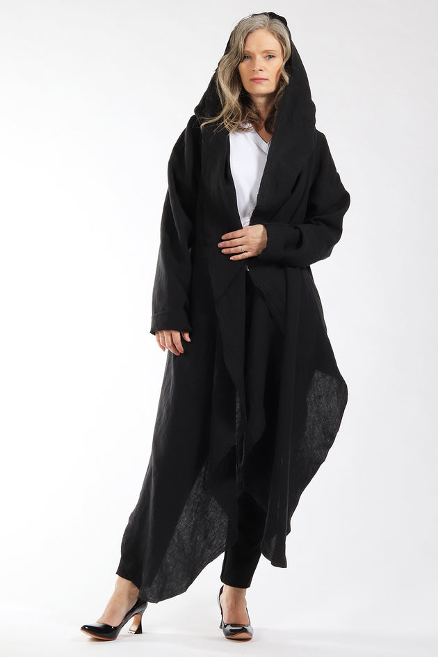 One of a kind #00300 - drape front cardigan - front view 3 - Lennard Taylor