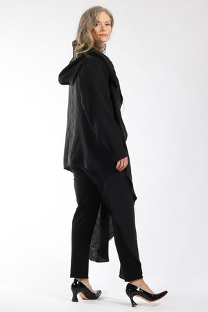 One of a kind #00300 - drape front cardigan - side view 2 - Lennard Taylor